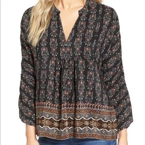 Madewell Silk Boheme in Burnished Floral Blouse